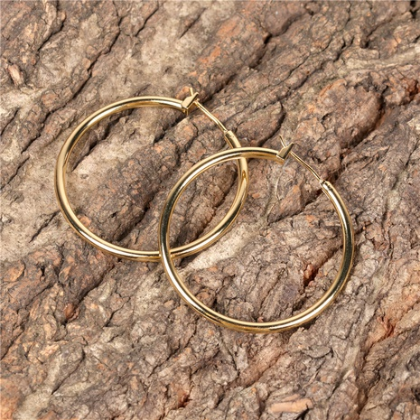 simple exaggerated geometric circle earrings NHPY315471's discount tags