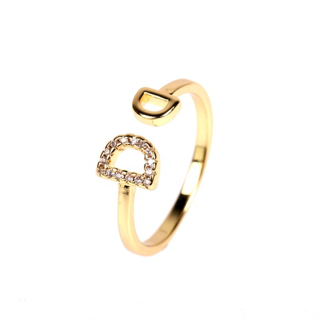 letter double D diamond open ring  NHPY315491's discount tags