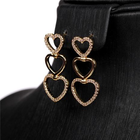 pendientes largos multicapa en forma de corazón creativos sencillos NHPY315496's discount tags
