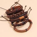 einfaches Retro gewebtes Lederarmband NHPK315543