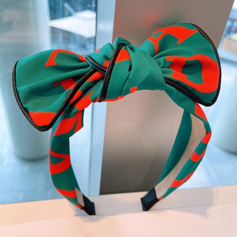 retro printing big bow headband  NHHD315550's discount tags