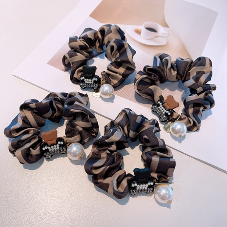 retro diamond cute bear elastic hair scrunchies NHHD315552's discount tags