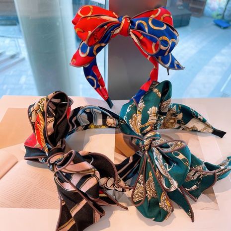 retro bow printing headband  NHHD315561's discount tags