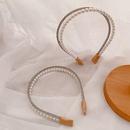 New diamond pearl simple headband NHHI315572