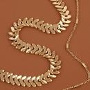 retro snakeshaped multilayer necklace NHLA315577