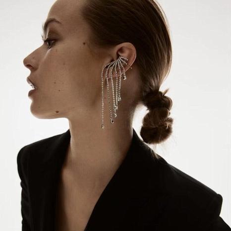 asymmetrischer Ohrring mit Strassquaste aus Aluminium NHJE315581's discount tags