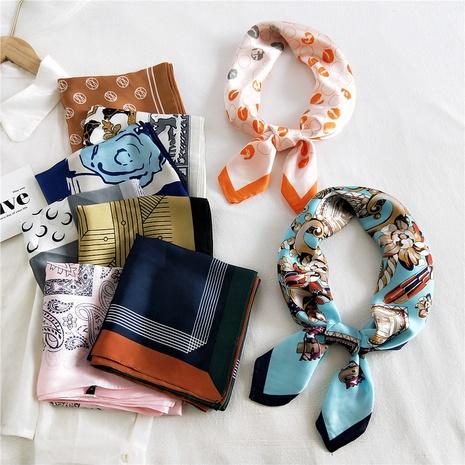 pañuelo de seda cuadrado pequeño NHMN315655's discount tags