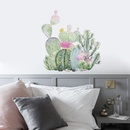 New simple green cactus succulent wall stickers NHAF315725