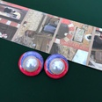 NHOM1452842-Rose-red-purple-stitching-earrings-2.5-cm