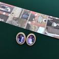 NHOM1452847-Oval-single-side-silver-needle-earrings-1.92.4cm