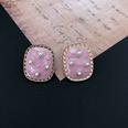 NHOM1452827-Pink-Square-Silver-Needle-Stud-Earrings-1.82.4cm