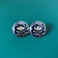 NHOM1452850-Dark-blue-silver-pin-stud-earrings-2.2-cm