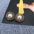 NHOM1452915-Hollow-lace-silver-needle-stud-earrings