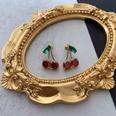 NHOM1452927-Green-Diamond-Cherry-Stud-Earrings-2cm