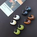 Resin Small Snail Shape Earrings  NHOM315728