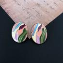 Pink Glaze Retro Painting Earrings NHOM315732