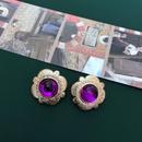 Retro palace purple rose pearl fashion earrings NHOM315735