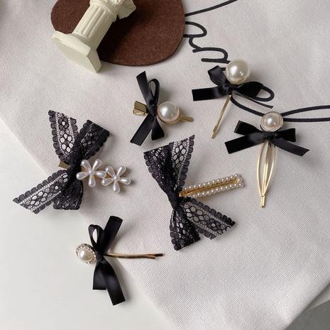 Corée nouvelle épingle à cheveux en dentelle noire perle sauvage NHCQ315819's discount tags
