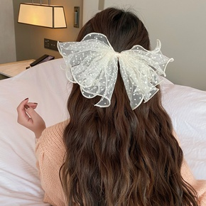 Korea new wild lace black bow hairpin NHCQ315822