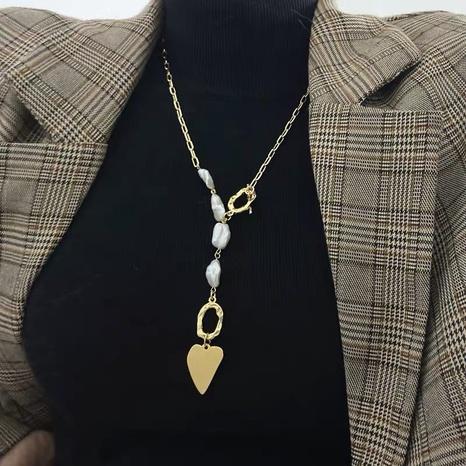 Mode Herz Anhänger Barock Perlenkette NHYQ315829's discount tags