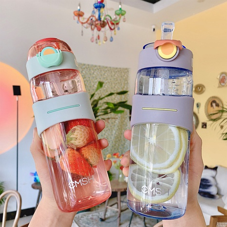 cute korean large-capacity plastic water cup NHtn315850's discount tags