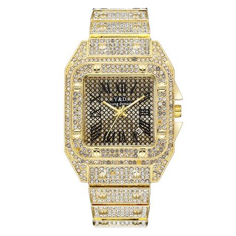 Montre à quartz en diamant avec bande en acier à grand cadran NHSS315866's discount tags