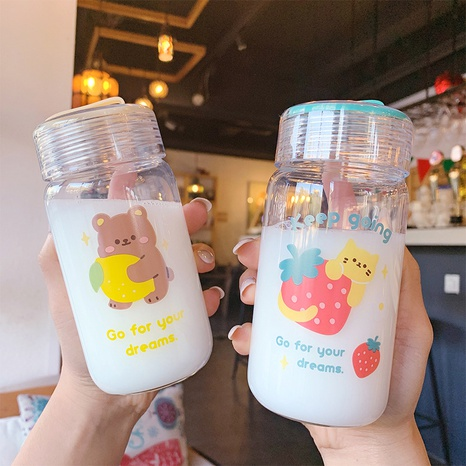 cartoon cute glass water cup NHtn315888's discount tags