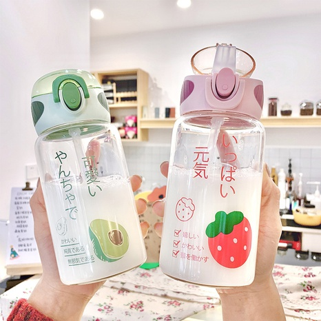 Cute fruit series glass water cup NHtn315930's discount tags