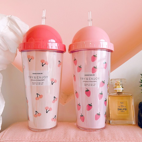 Creative Cartoon Strawberry Straw Cup  NHtn315923's discount tags