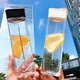 simple transparent plastic water cup  NHtn315919