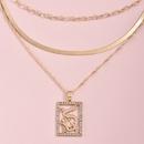 Mode chinesische Stil Anhnger Drachen mehrschichtige Halskette NHAJ315976