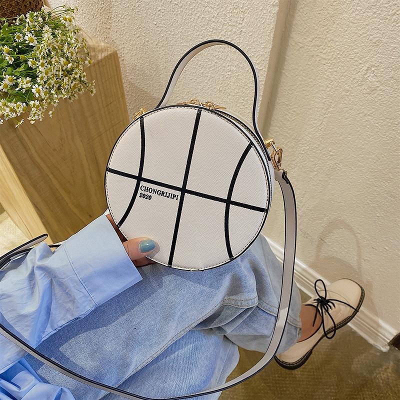 neue koreanische wilde OneShoulder Messenger Mode runde Tasche NHJZ316046