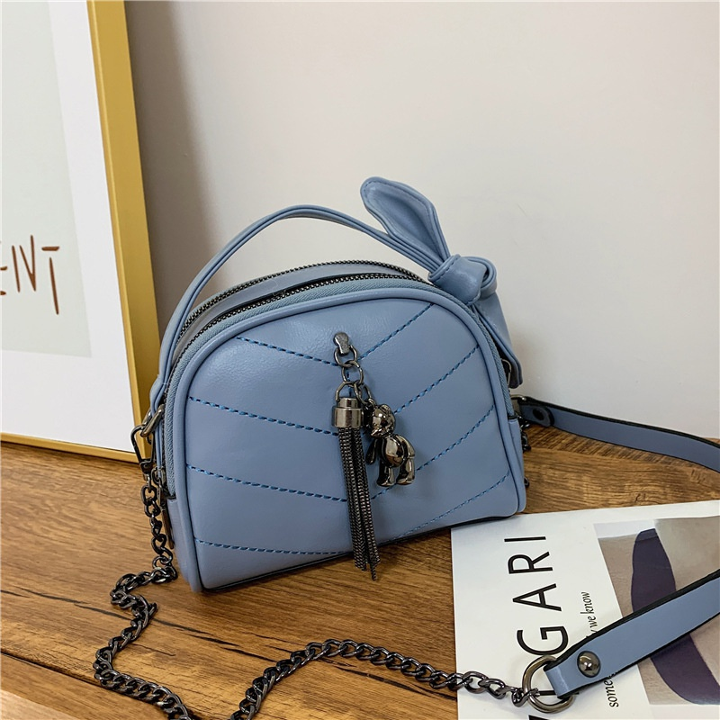 Korean cute soft leather simple messenger bag NHJZ316058