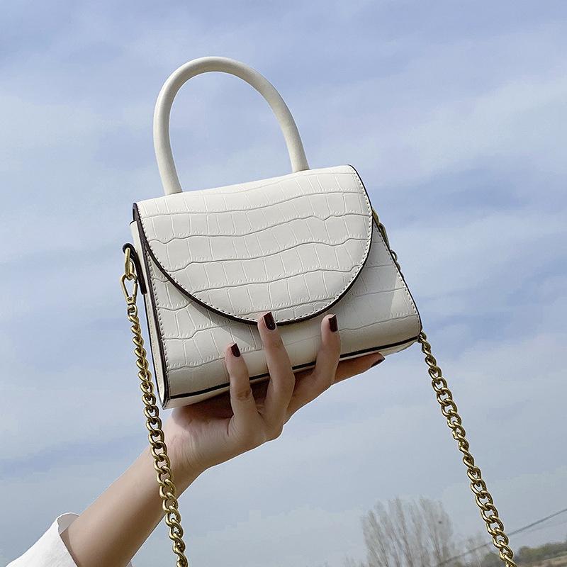 new trendy korean fashion crocodile pattern portable messenger bag  NHJZ316078