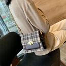 neue trendige koreanische karierte lssige quadratische Tasche NHJZ316093