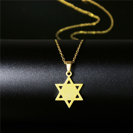 Six Pointed Star Necklace  NHAC313917's discount tags