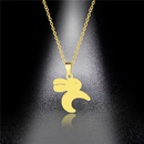 Stainless Steel Bunny Cute Necklace NHAC313921