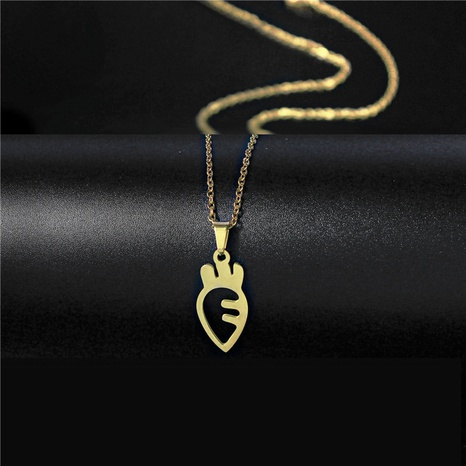 titanium steel carrot pendant necklace NHAC313934's discount tags