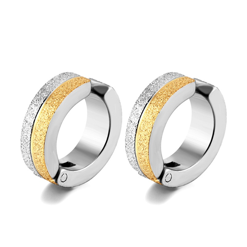 simple titanium steel earrings NHAC313949