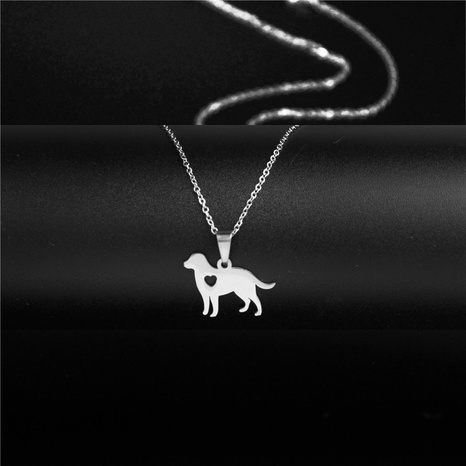 stainless steel zodiac dog necklace  NHAC313960's discount tags