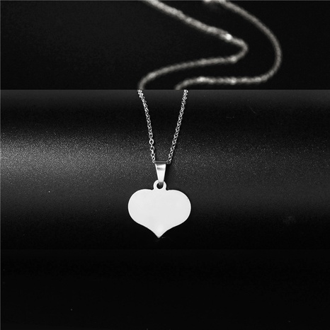 simple peach heart necklace NHAC313968's discount tags