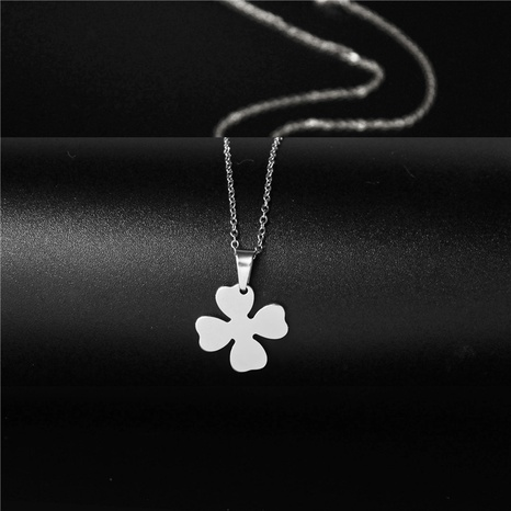 Korean Fashion Stainless Steel Four Leaf Necklace NHAC313970's discount tags
