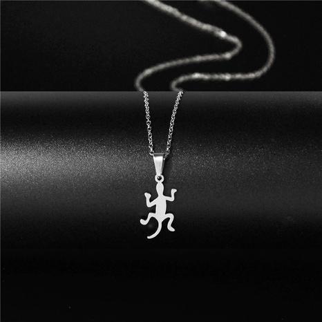 Titanium steel lizard gecko necklace NHAC313971's discount tags