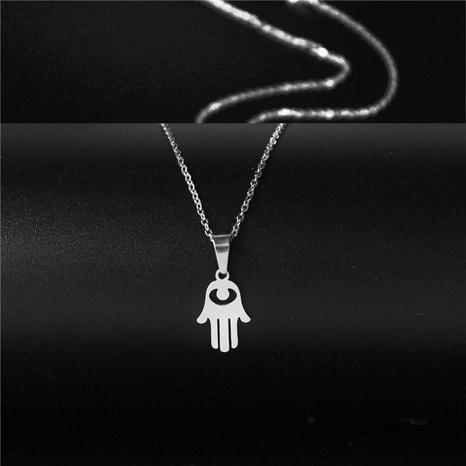 collar simple de ojo hueco de acero inoxidable NHAC313973's discount tags