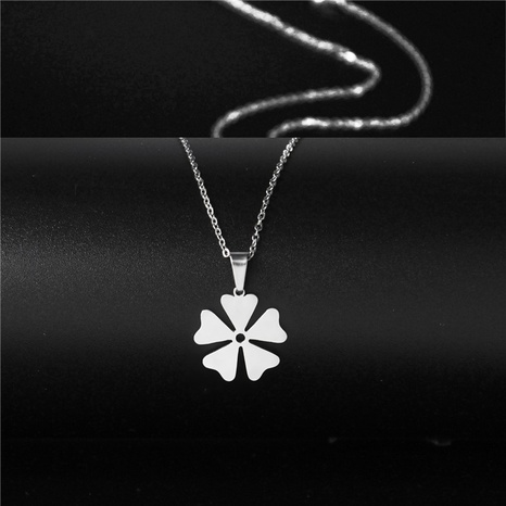 Stainless steel windmill pendant flower necklace  NHAC313975's discount tags