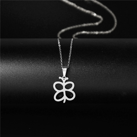 Titanium steel butterfly pendant necklace  NHAC313978's discount tags