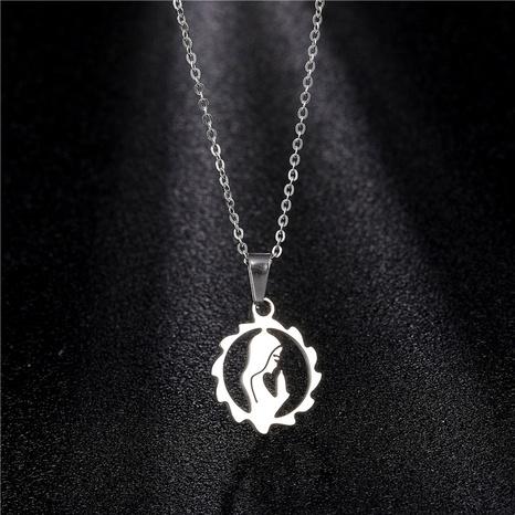 Mutteranhänger-Halskette aus Titanstahl NHAC314002's discount tags