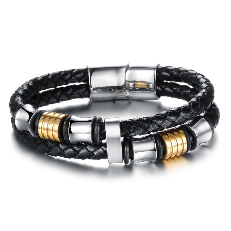 simple new buckle gold stainless steel bracelet NHOP313458