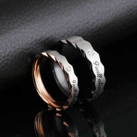 neue koreanische Mode Titan Stahl Strass Paar Paar Ring NHOP313487's discount tags