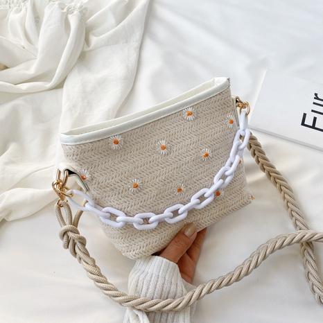 new wave korean wild woven shoulder messenger bag NHJZ316140's discount tags